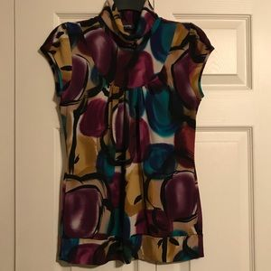 RIPE Women's Blouse Top Shirt Floral Jewel Tone